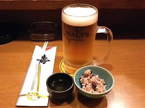 22ビールお屠蘇赤飯