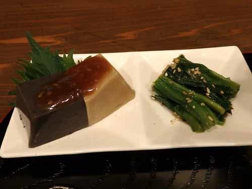 13胡麻豆腐ほうれん草おひたし