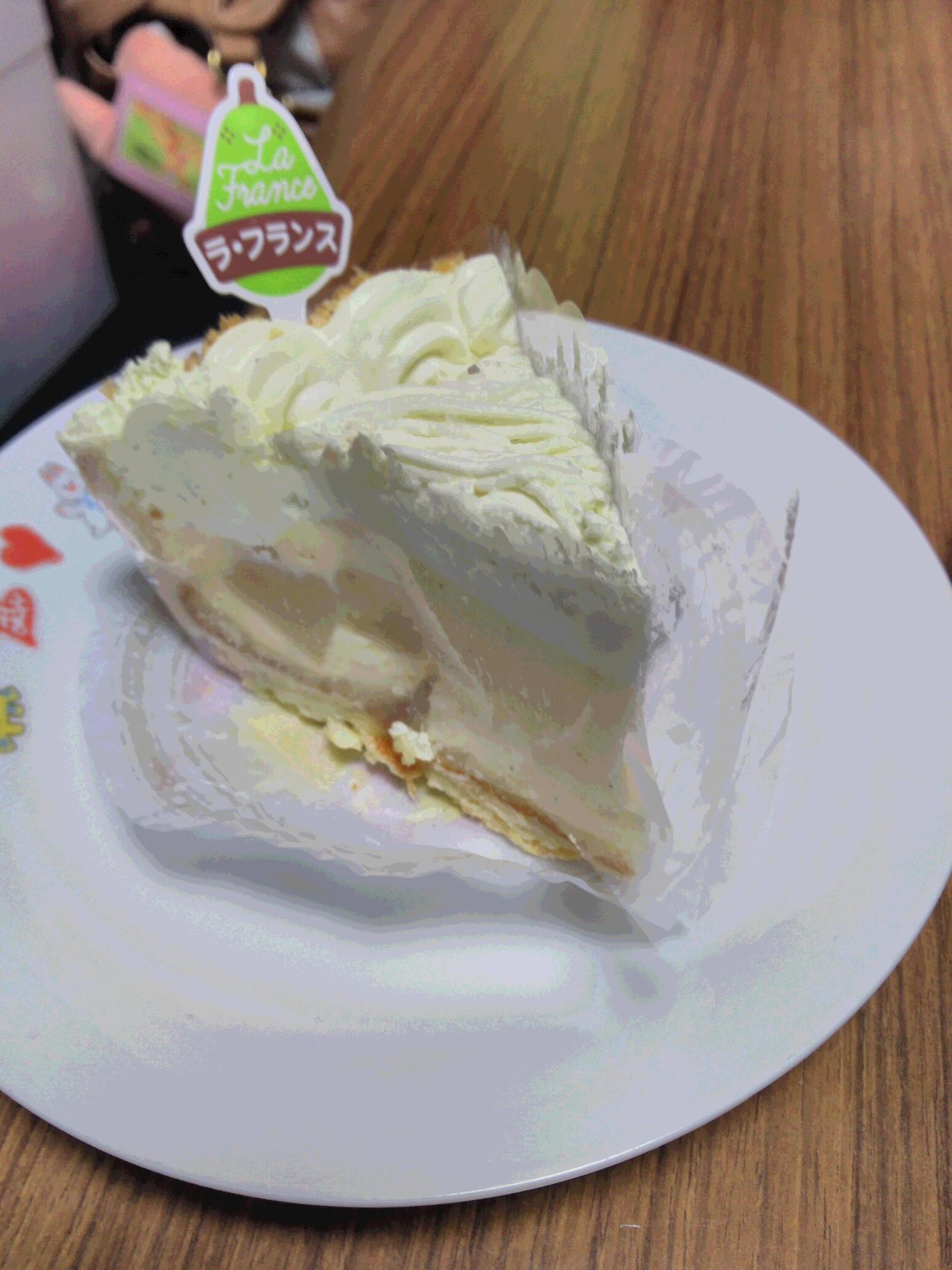 ラフランスのケーキ