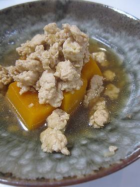 20161208 かぼちゃ鶏ひき肉煮