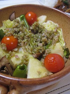 20161225グリル野菜バジルハムソース