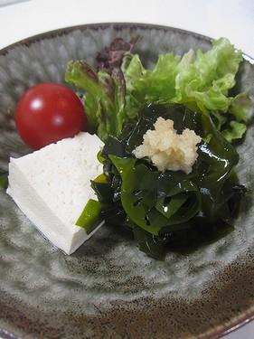 20170131わかめ豆腐サラダ