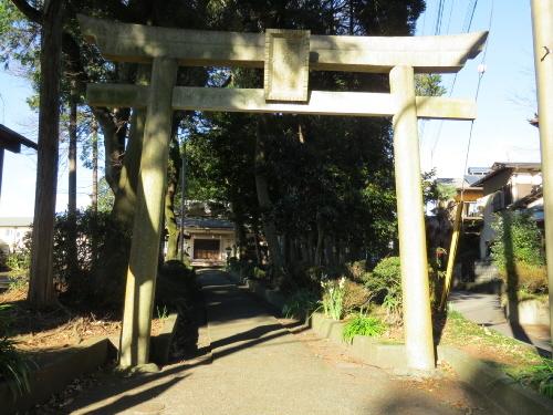傘木の浅間神社の鳥居