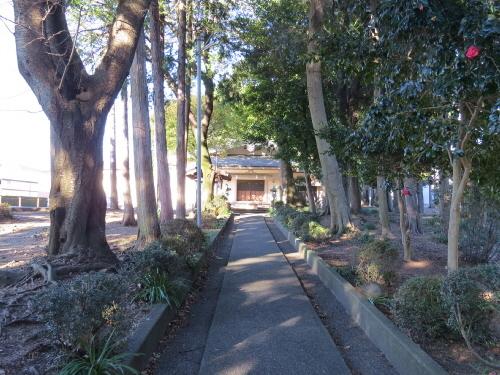 傘木の宣言神社の参道