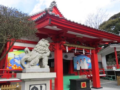 米之宮浅間神社左狛犬