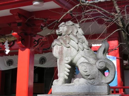 米之宮浅間神社右狛犬