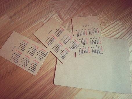 カードサイズカレンダー①