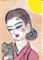 4囁く猫蕗谷 虹児(ふきや こうじ