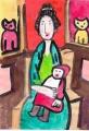 4モディリアーニ・子供を抱いて座る女