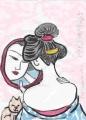 3国芳 Kuniyoshi 『山海愛度図会 えりをぬきたい 遠江須之股川』