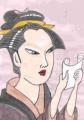 4浮世絵婦女人相十品文を読む年増の女房歌麿 (1)