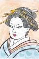 3猫のいる浮世絵 東世美人合吉原芸者(1)