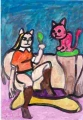 4バルテュス 猫と鏡 (3)