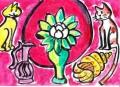 5アンリ・マティス(Henri Matisse)木蓮の花瓶 (6)