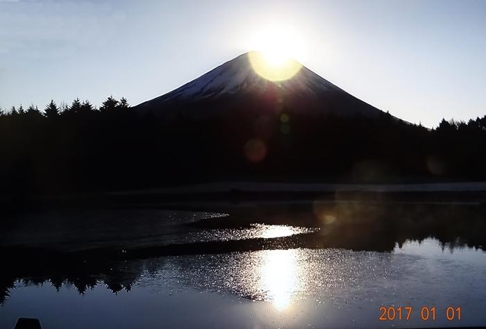 DSC07781湖のダイヤモンド富士