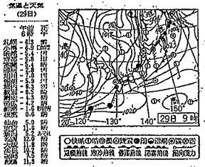 19711129天気図
