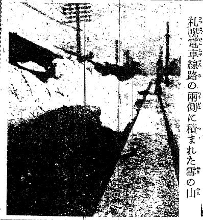 1922年12月27日札幌の電車通り