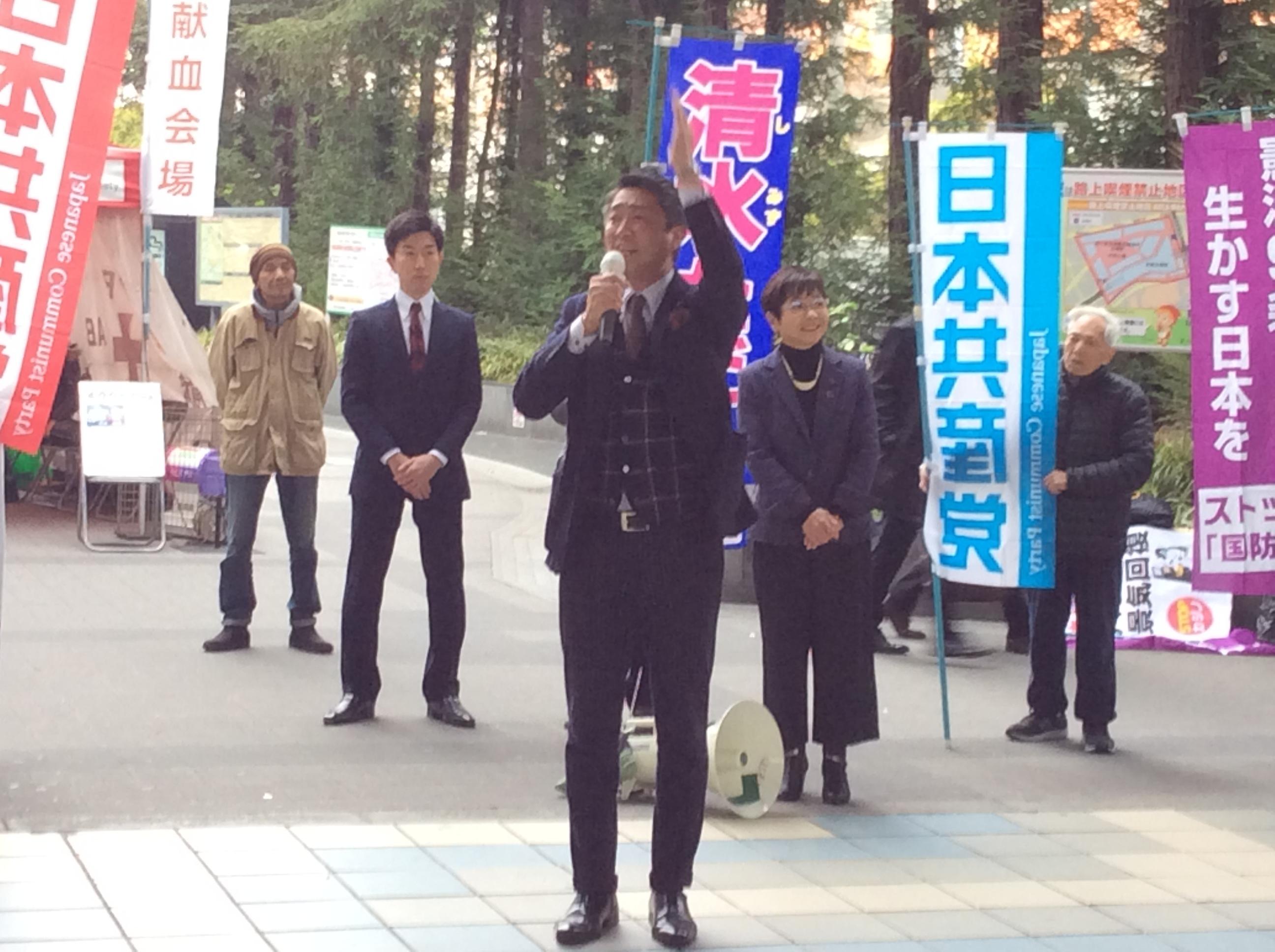 1月7日大阪京橋街頭演説