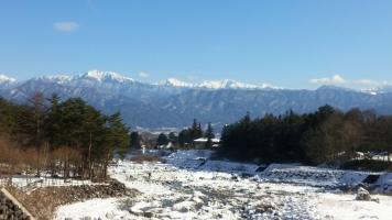 雪の大田切川