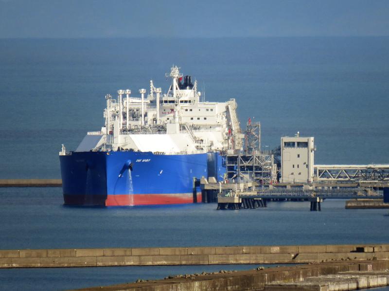 LPG船入港