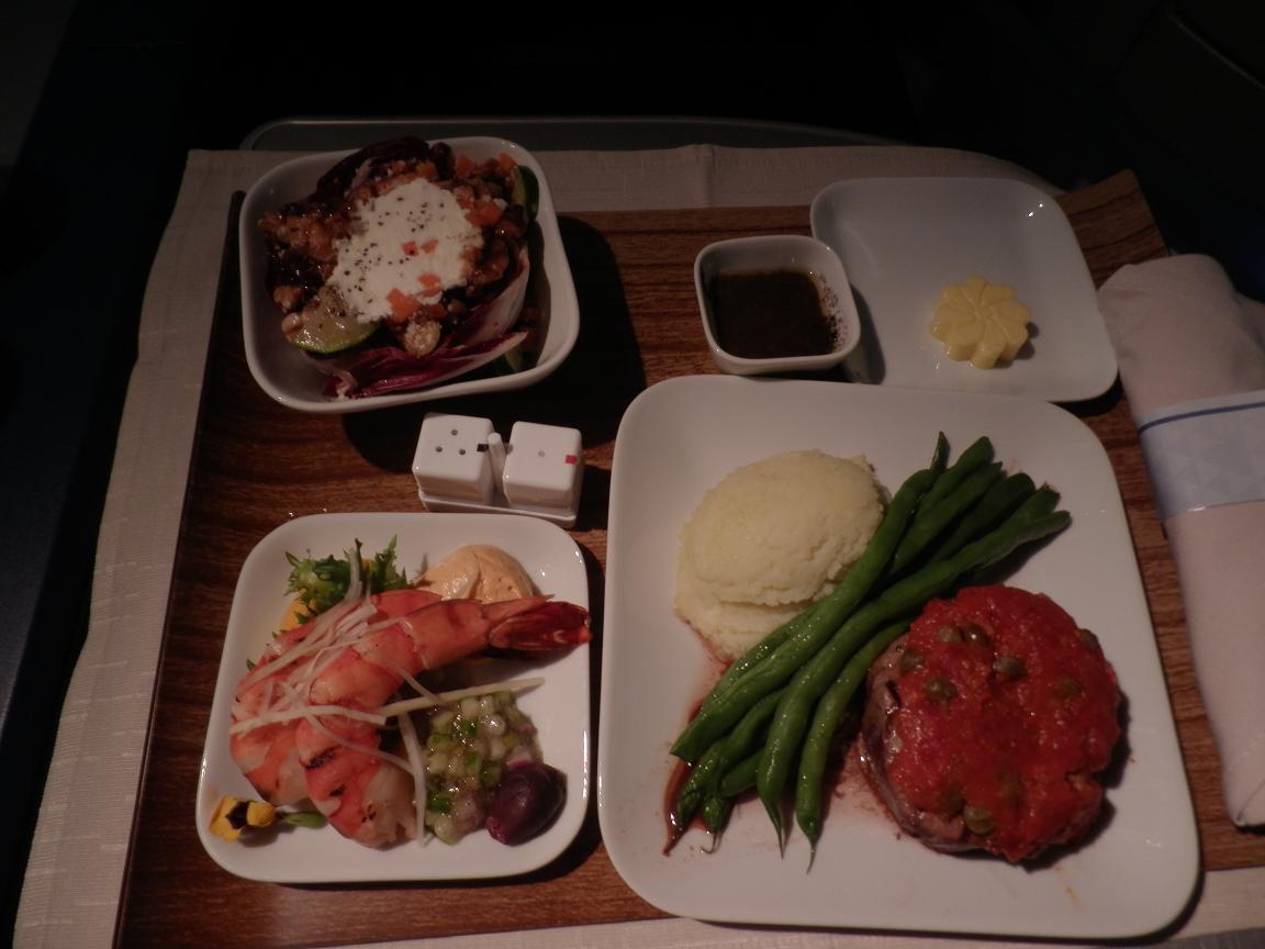 デルタ機内食