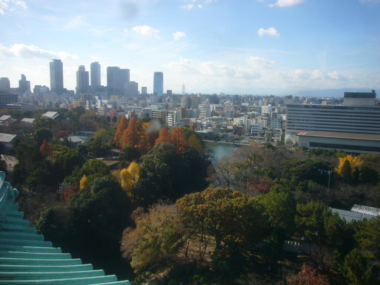 名古屋城から名古屋駅周辺の高層ビル H28.12.5