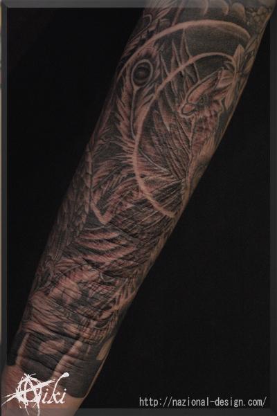 20161114 名古屋 新栄 栄 大須 tattoo タトゥー スタジオ NazionalDesign ピアス ピアッシング ボディピアス 自傷行為 リストカット 傷の上 和彫り 鳳凰