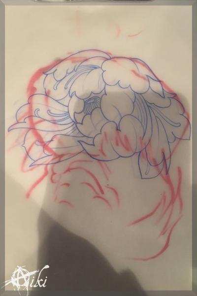 20161217 名古屋 新栄 栄 大須 ピアス ピアッシング タトゥー スタジオ NazionalDesign TATTOO 和彫り 唐獅子 牡丹 和柄 ピンク