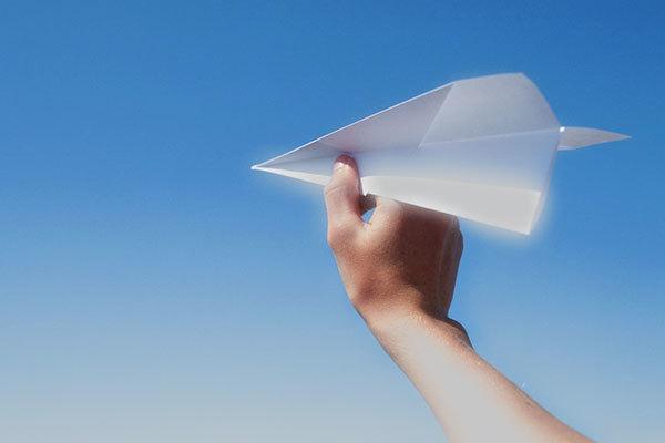 紙飛行機作ってたら嫁に怒られた