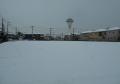 裏の畑の雪景色