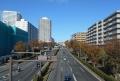 歩道橋から見る東戸塚オーロラシティ