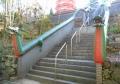 階段の龍の手すり