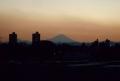 陸橋から見る富士