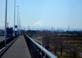 羽倉橋から見る富士