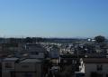 荒川土手から見る富士