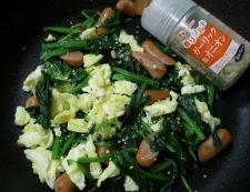 炒り卵ソーセージ 調理④