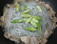春雨と豚こまのさっぱり炒め 調理④