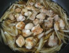 ごぼうと鶏たまの煮物 調理④