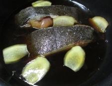 子持ちカレイの煮付け 調理①