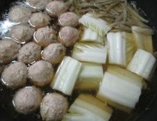 ごほうと鶏だんごの煮物 調理②