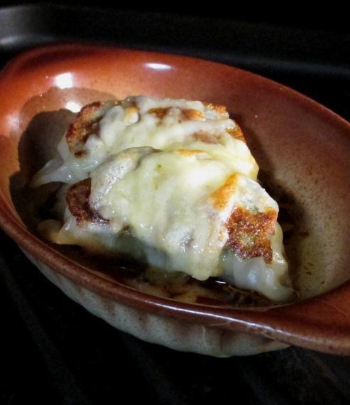 餃子のチーズ焼き 拡大