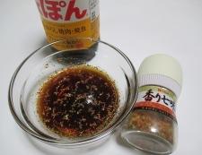 エリンギもやしと豚肉の七味ポン酢炒め 調理①