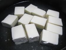 梅肉湯豆腐 調理④