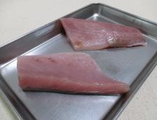 刺身ブリの胡麻照り焼き 調理②