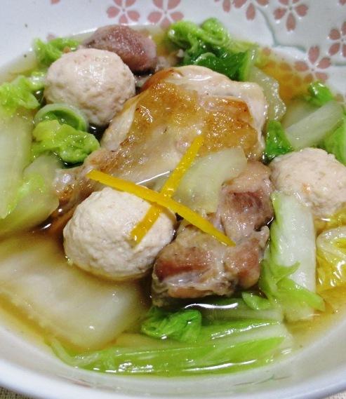 白菜と鶏三昧の煮物 大