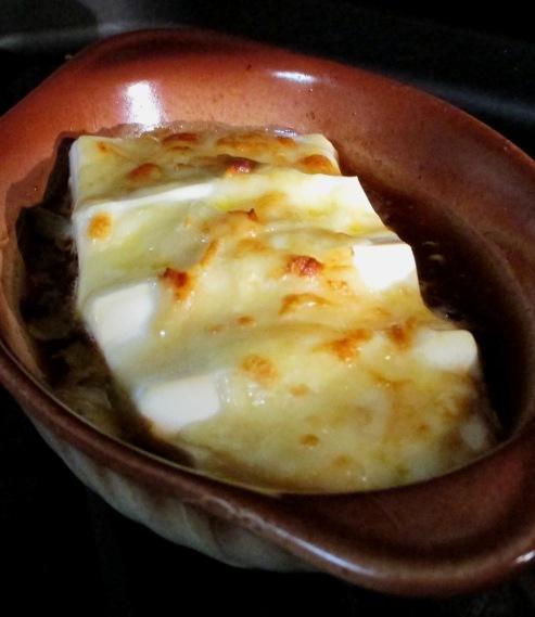 豆腐のポン酢チーズ焼き 拡大