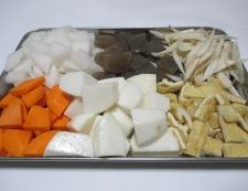 里芋の豚汁 調理①