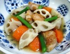 レンコンと鶏もも肉のうま煮 調理④