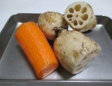 レンコンと鶏もも肉のうま煮 材料①