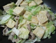 豆腐と豚こまのオイスターソース炒め 調理④
